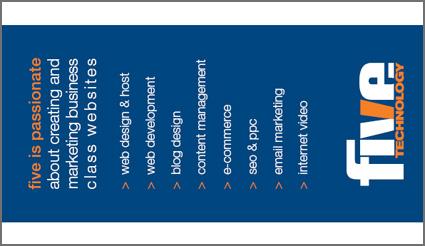 Business Card back web design