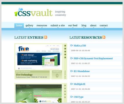 Five web design on CSS Vault