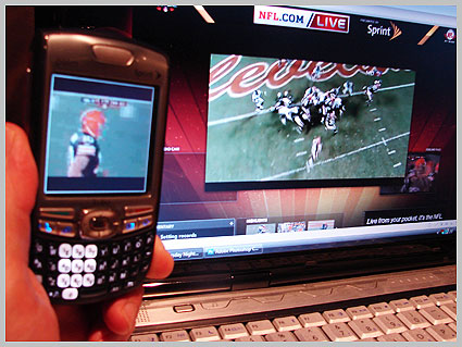 Internet video mobiel video NFL