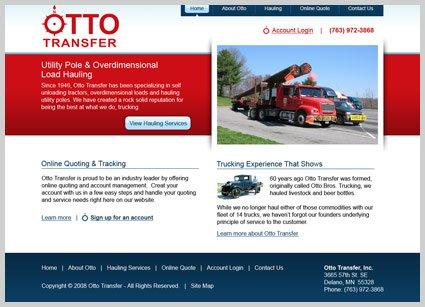 web design for Otto transfer