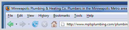 page title example for plumbers