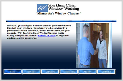website before redesign