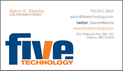 Business card with Twitter