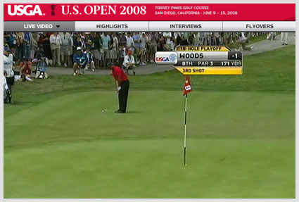 US Open video Tiger Woods