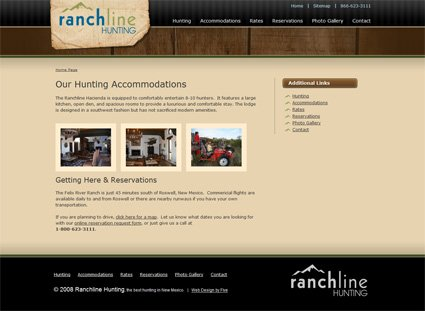 A Web Design in the Crosshairs: Ranchline Hunting | Five Technology