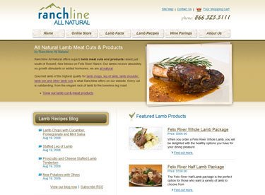 Ranchline All Natural E-commerce