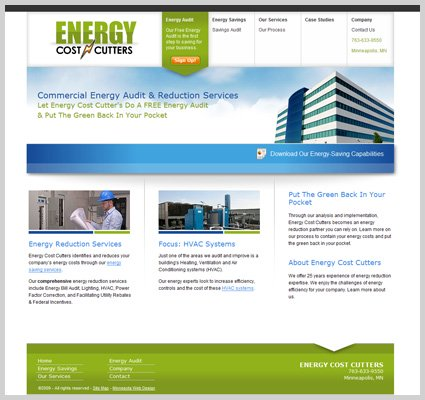 Energy Cost Cutters web design