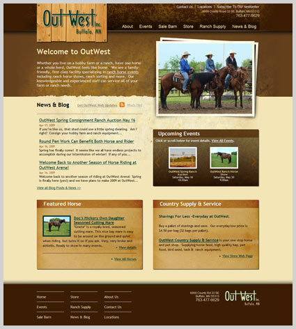 website redesign outwest western