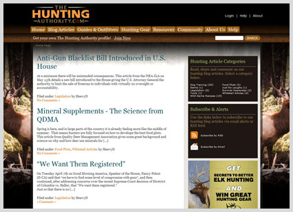 web-design-hunting-authority-blog