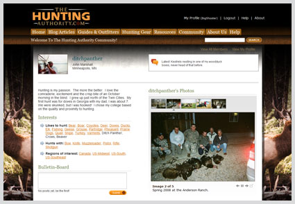 web-design-hunting-authority-social-profile