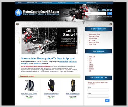 e-commerce web design website