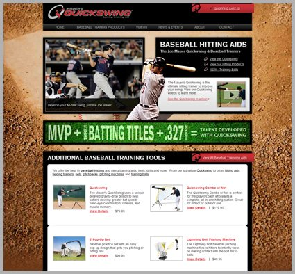 web design Joe Mauer