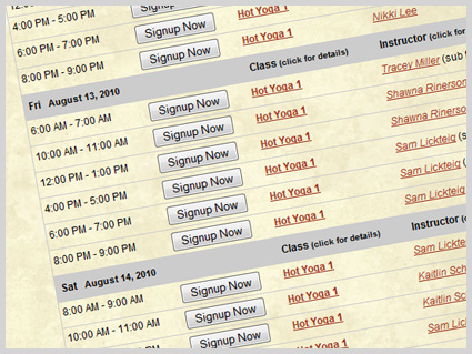 design schedules