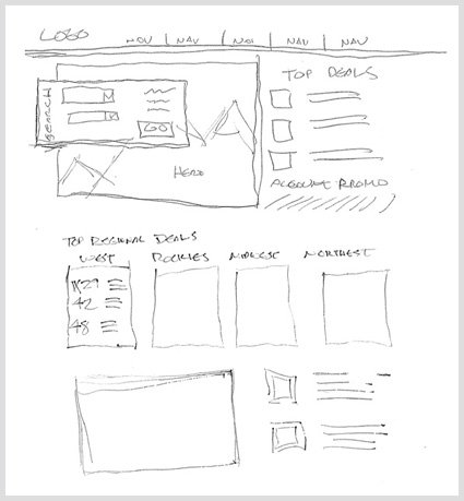 web design sketch