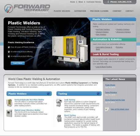 Plastic Welders, Precision Cleaning, Automation and Robotics