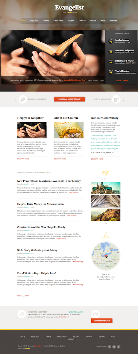 Evangelsit - Church HTML Theme