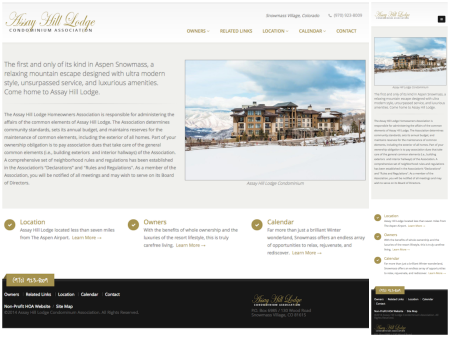 Theme Website Design - Assay Hill HOA